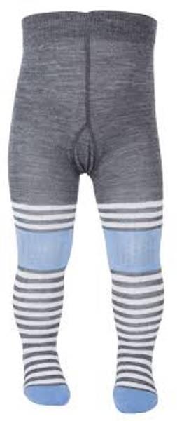 Bilde av Safa Krabbestrømpebukse i Ull - -lysblå/grå