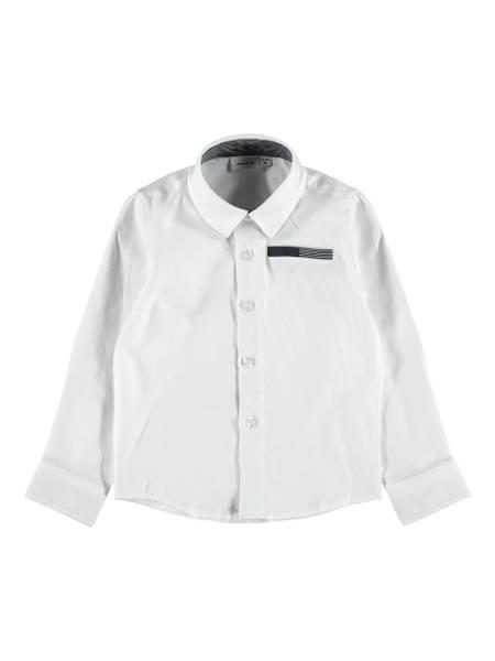 Bilde av NmmRirian ls shirt - Bright White