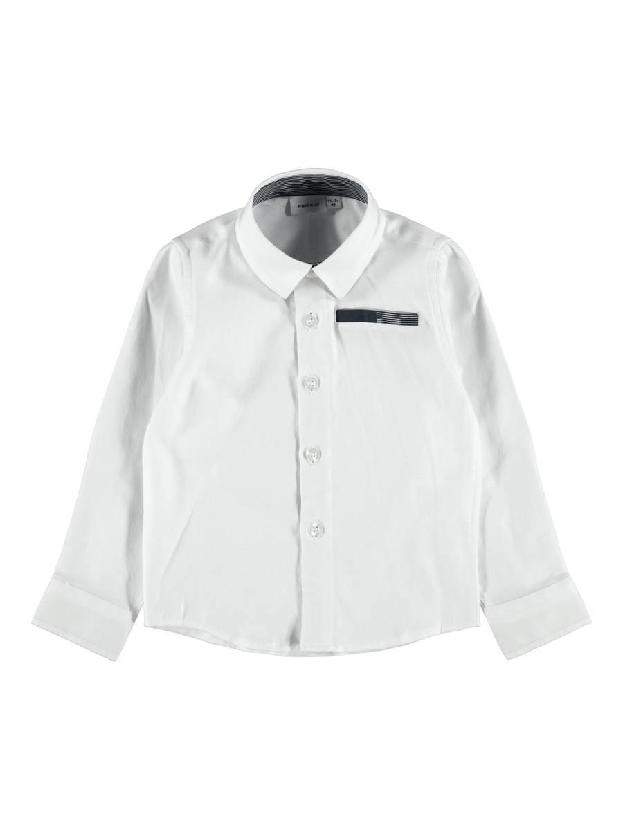 NmmRirian ls shirt - Bright White