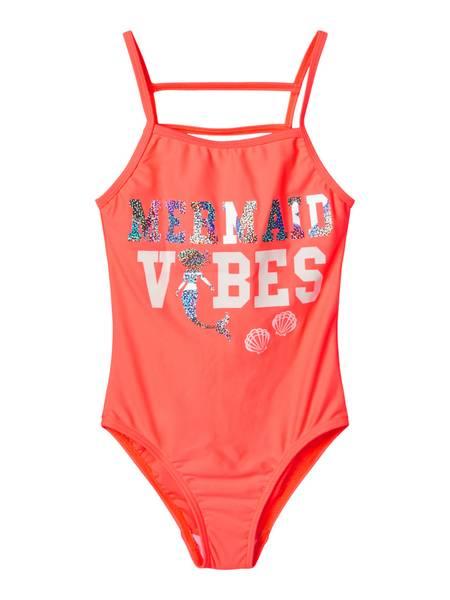 Bilde av NkfMermaid Maple swimsuit - Neon Coral