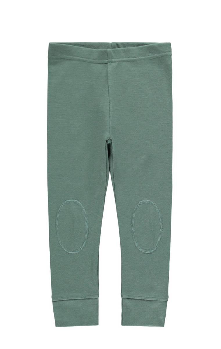 NmmWillow wool longjohn - Duck Green