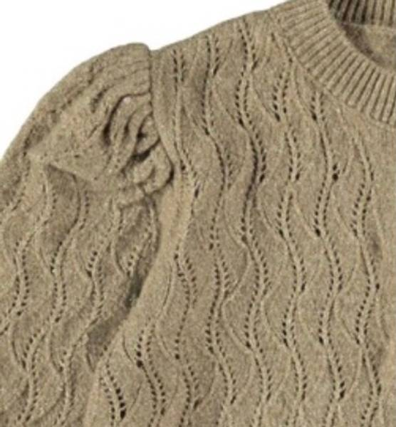 Bilde av NkfLomia knit card - Stone Gray