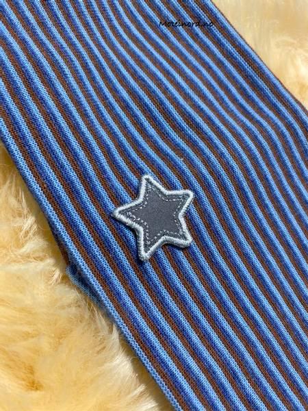 Bilde av Kivat Pannebånd - Striper, Stjerne - Blå/brun