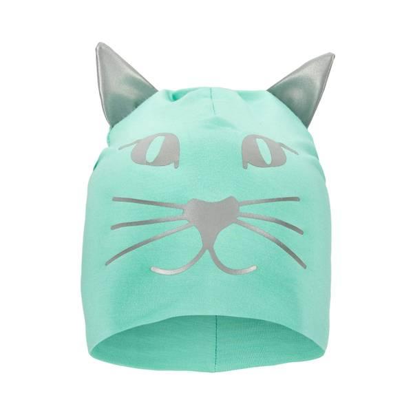Bilde av Funkle lue med refleks - Puddergrønn kattepus