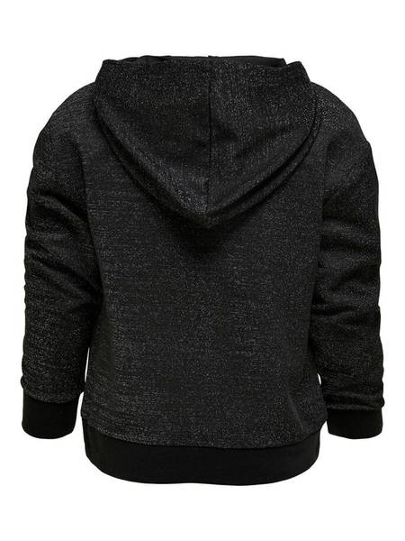 Bilde av KonMady glitter hoodie - Black/W.Glitter