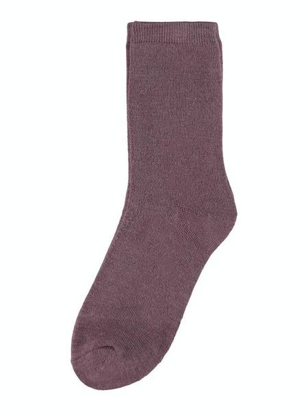 Bilde av NmfWaksi wool terry sock - Black Plum